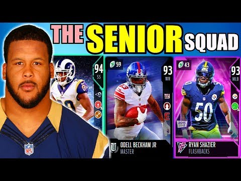 THE SENIOR SQUAD! USING FOURTH YEAR PLAYERS AT EVERY POSITION! Madden 18 Ultimate Team Gameplay