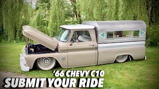 Vintage 1966 Chevy C10 Short Bed Big Window | Bagged Vintage Trucks