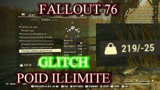 EXCLU FALLOUT 76!!! GLITCH POID EN ILLIMITé!!!