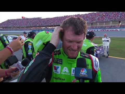 Dale Jr.'s final run at Talladega doesn't disappoint
