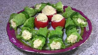 Как красиво подать еврейский салат к праздничному столу  Виорой вариант