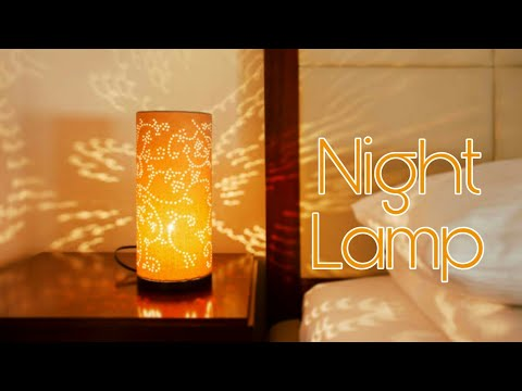 How to make Paper Lamp • Night lamp • Room Decoration ideas • Easy Paper Lamp • DIY Paper Lamp