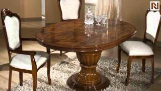 Elizabeth - Round Extend-able Dining Table Made In Italy Vgaccelizabeth-round-brn