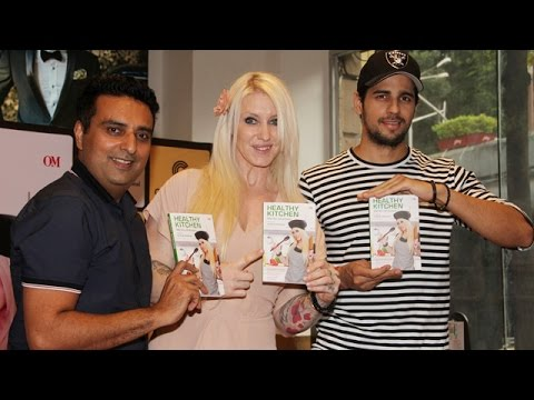 Sidharth Malhotra At The Launch Of Fitness Trainer Marika Johansson's Book 'Healthy Kitchen'