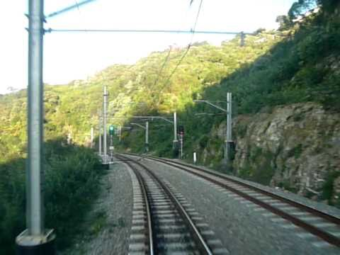Johnsonville to Wellington by train non-stop front window view