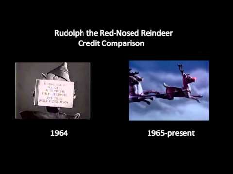 Rudolph the Red-Nosed Reindeer - Credit Comparison (1964 vs. 1965-present)