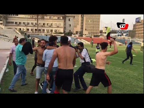 المصري اليوم:لاعبو شبين يحتفلون مع ياسر رضوان بهروبهم من الهبوط:«هي دي شبين»