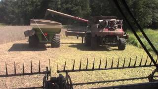 take a ride in a case ih 8240 combine