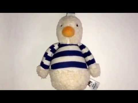 Little Jellycat Children's Musical Pull String Soft Cot Toy Video