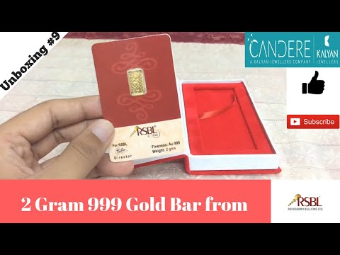Unboxing 2 Gram 24kt 999 RSBL Gold Bar from Candere (India 2017)