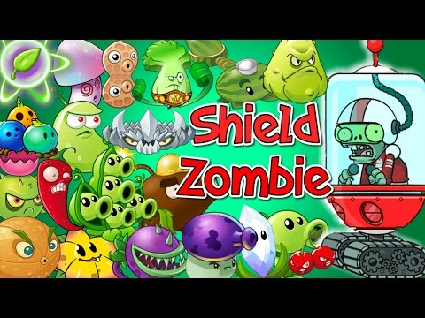 Plants vs Zombies 2 All Plants Power Up vs SHIELD ZOMBIE in PvZ 2