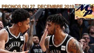 PRONOS NBA DU VENDREDI 27 DECEMBRE 2019 !!!! PARIS SPORTIFS !!!