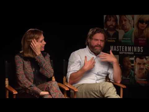 Masterminds: Zach Galifianakis & Kristen Wiig Official Movie Interview