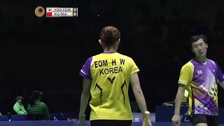 Unbeliveable Comeback Korea Defense Technique Badminton