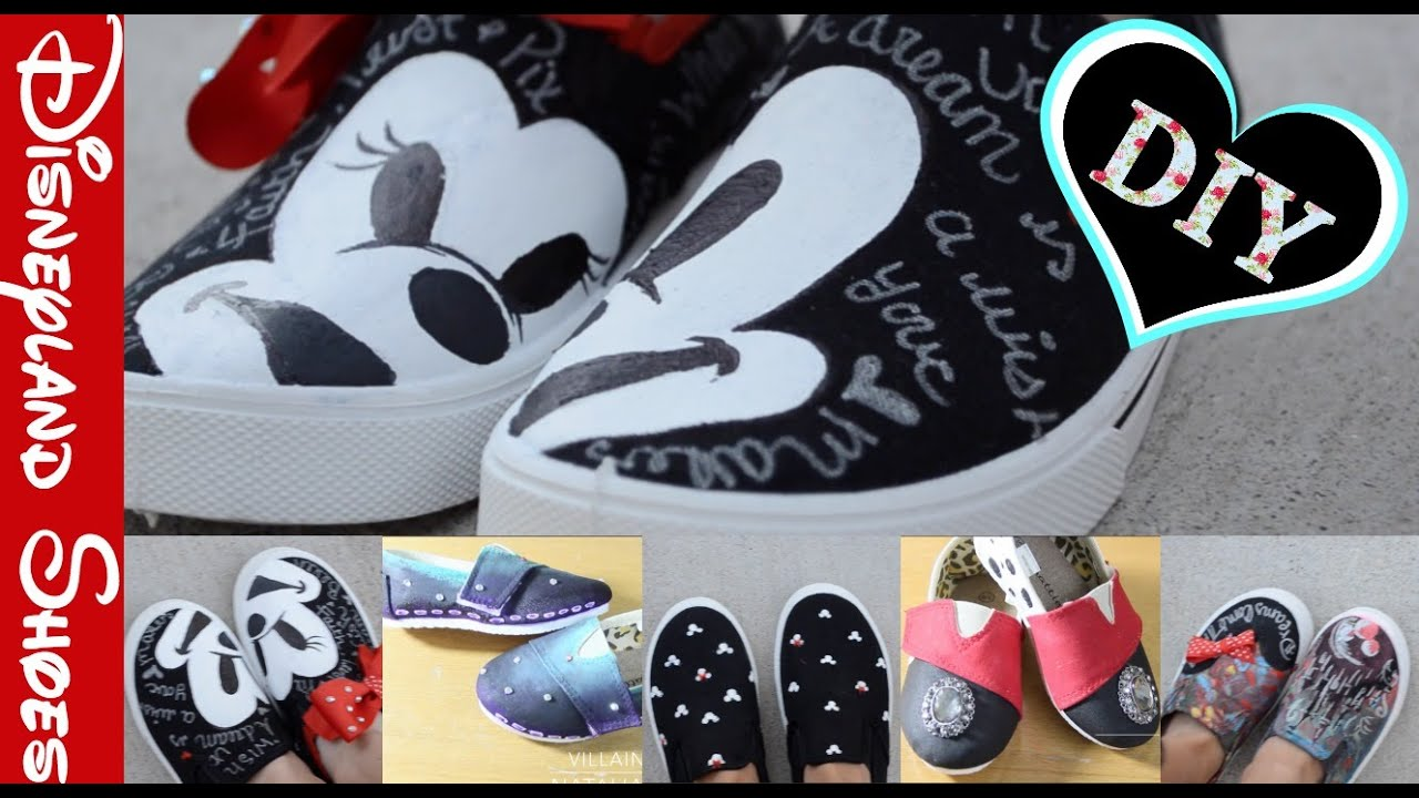 DIY Disneyland Shoes Collab with