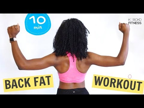 BACK FAT BODYWEIGHT WORKOUT | Standing Exercises - Home Workout