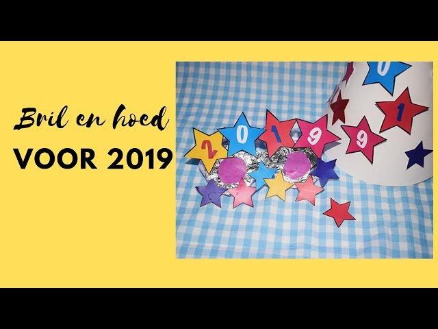 Oudjaar 2019, knutsel een feesthoed en een roze bril