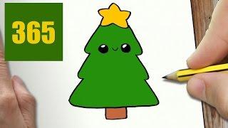 Comment Dessiner Sapin De Noel Kawaii Etape Par Etape Dessins Kawaii Facile Youtube