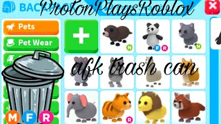 Seeing what I get as a AFK Trash Can In Adopt Me..(INSANE)