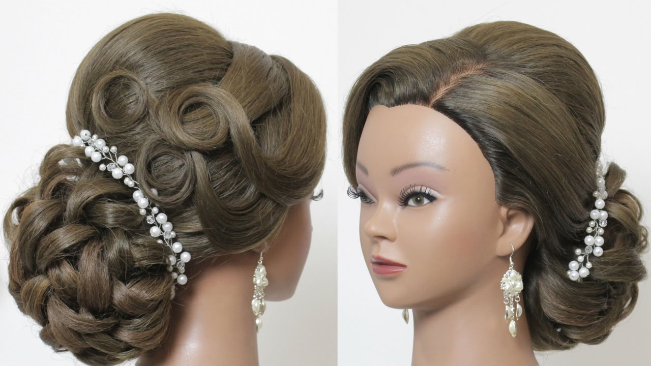 indian hairstyle for long hair tutorial. bridal wedding updo