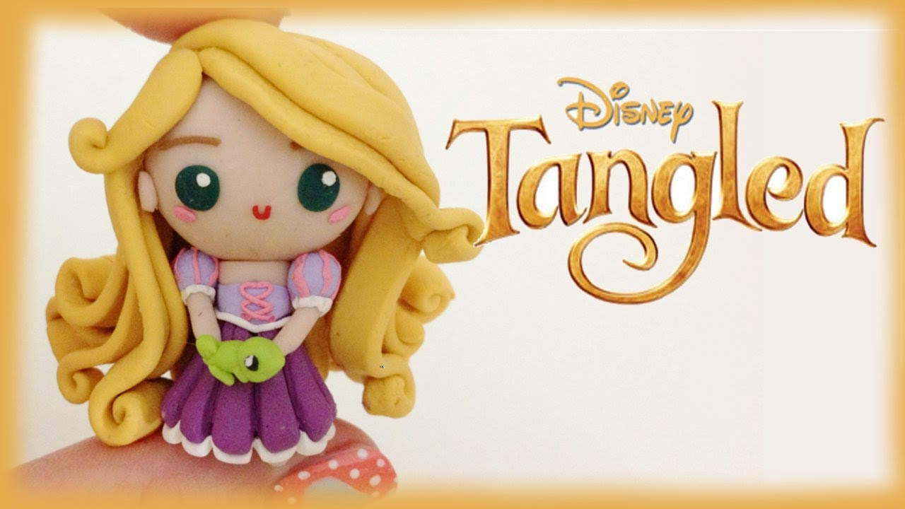 Disney Rapunzel From Tangled Polymer Clay Tutorial Youtube
