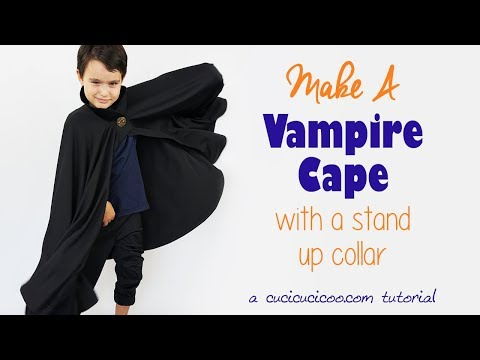 Light Weight Halloween Vampire Adult Black Cape With Collar And Ties 38 Inch