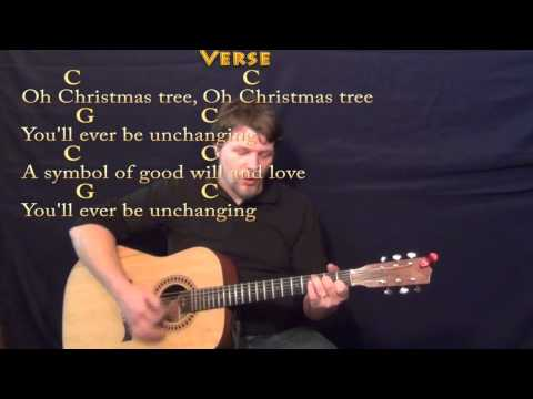 O Christmas Tree - Strum Guitar Cover Lesson in C with Lyrics/Chords