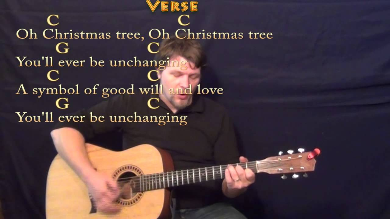 O Christmas Tree - Strum Guitar Cover Lesson in C with Lyrics/Chords ...