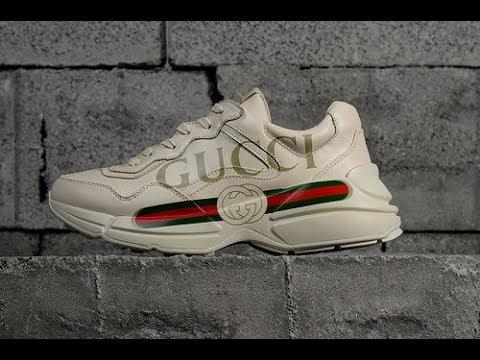 475bddac685 Gucci Rhyton Vintage Logo Print Trainer Sneaker - YouTube