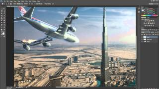 My First Speedart - Crashing Plane Over Dubai