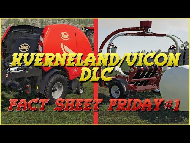 Kverneland & Vicon DLC: Fact Sheet Friday #1   Farming Simulator 19