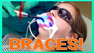 AUDREY Gets Her BRACES on! - Kid VLOG - PAIN?