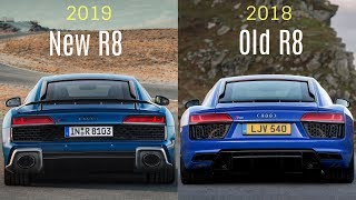 2019 audi r8 v10 performance quattro vs 2018 plus new old the facelifted supercar adds a bit of aggression all way around. refre...