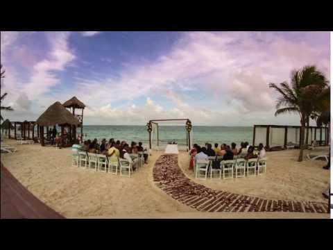 Cancun Mexico Wedding Timelapse on the Beach 4k