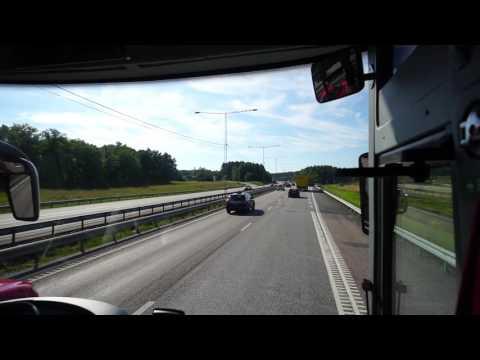 Sweden, bus ride from Märsta train station to Upplands Väsby