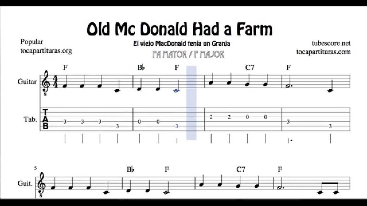 Nursery Rhymes Sheet Music For Guitar Thenurseries