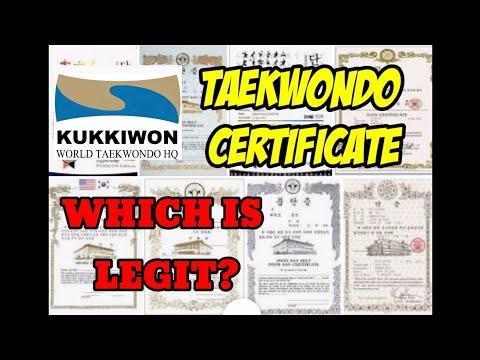 HOW TO CHECK YOUR TAEKWONDO BLACKBELT CERTIFICATE
