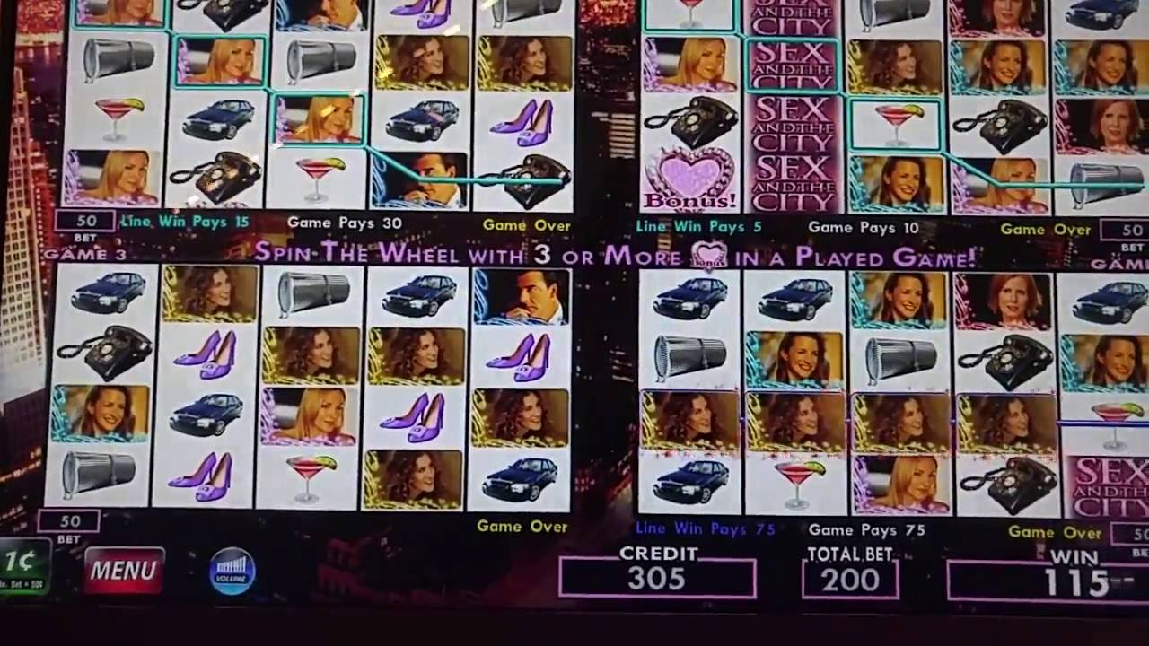 Sex in the city slot machine