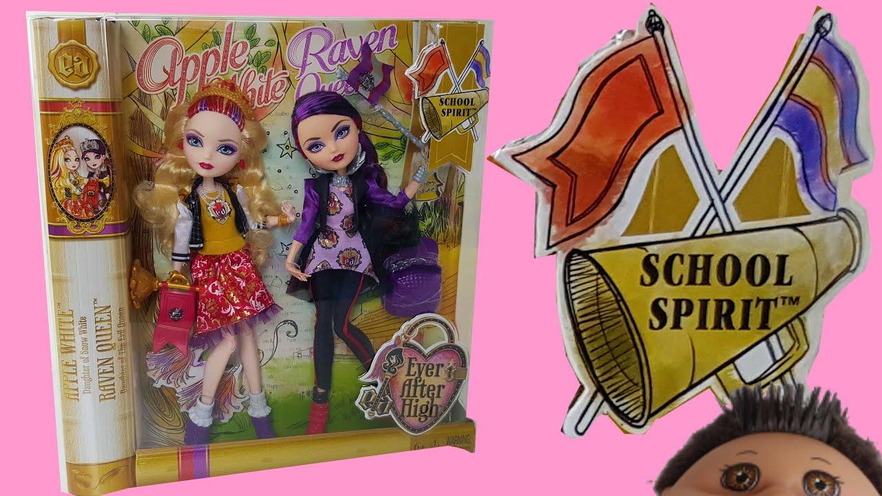 School Spirit Apple White & Raven Queen EAH Review - YouTube