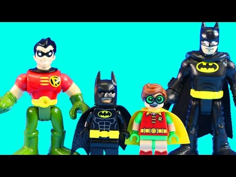 The Lego Batman Movie & Imaginext Batman & Robin Team Up On Earth 2 To Get Phantom Projector