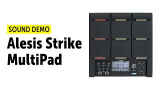 Alesis Strike MultiPad Sound Demo (no talking)