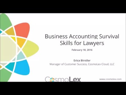 Law Firm Survival Skills: Business Accounting Basics | Cosmo