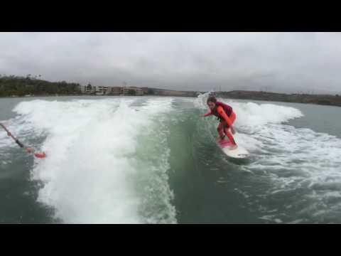 9 year old Sierra Kerr wakesurfing Tige Boats