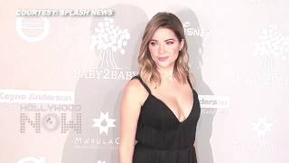 (VIDEO) Ashley Benson CLEAVAGE Show At Baby2Baby Red Carpet