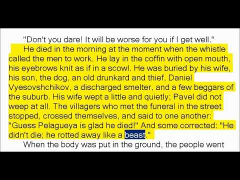 Mother by Maxim Gorky Part 1of2 (Book Reading, British English Female Voice)