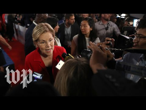 Inside the spin room: Watch Democratic candidates make their final points after the second debate