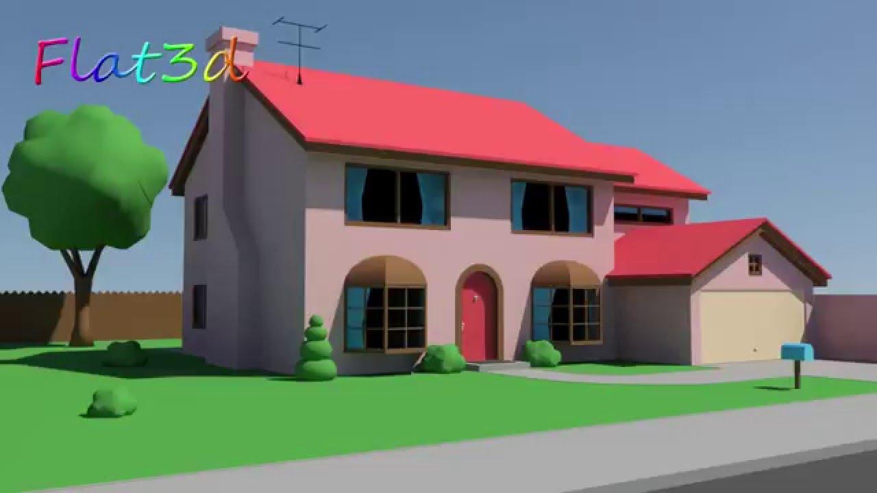 simpsons house 3d model fbx for sale youtube. Black Bedroom Furniture Sets. Home Design Ideas