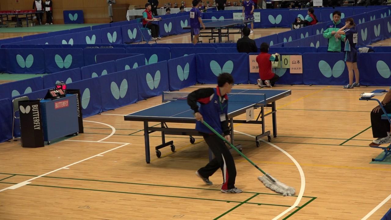 2016年全日本学生卓球選手権シン...