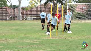 Online soccer drills - How to better your dribbling and passing - www.CoachesFC.com