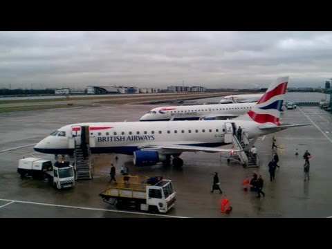 HD Timelapse: London City Airport Westerly Operations. A 'must watch'